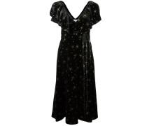 Kleid mit Stern-Stickerei