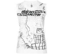 sleeveless printed jersey top