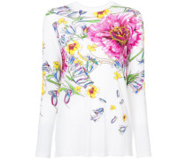 floral print long sleeve T-shirt