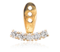 18k gold and diamond ear cuff