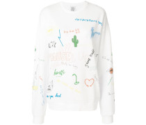 sketch print jumper