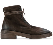 distressed style lace-up boots