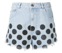 Gepunktete Jeans-Shorts