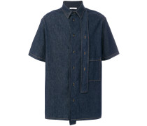 contrast stitch denim shirt