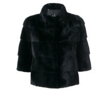 Cropped-Jacke aus Nerzpelz