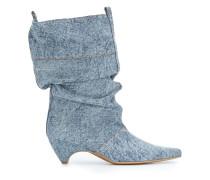 Jeans-Stiefel mit spitzer Kappe