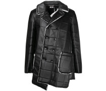 asymmetric square-embossed jacket