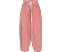 long rise cord trousers