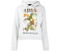 logo graphic print hoodie