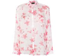 Seidenhemd mit floralem Print