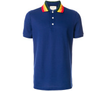 polo shirt with wolf appliqué
