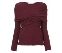 wrap fitted ribbed top