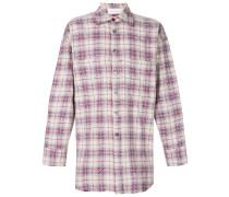 checked studded oversize shirt