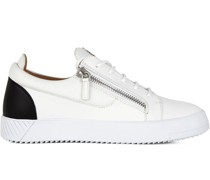 two-tone zip-up trainers