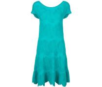 textured flared dress