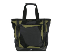 mesh and contrast panel tote