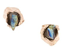Vergoldete 'Crush Stone' Sterlingsilber-Ohrstecker