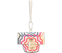 Belay print mini clutch bag