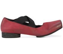 cross strap ballerina shoes