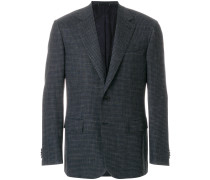 boxy checked blazer