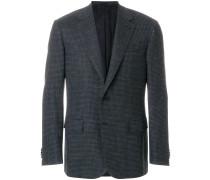 boxy checked blazer