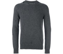 Kaschmirpullover in Distressed-Optik