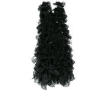 raw edge tulle layered dress
