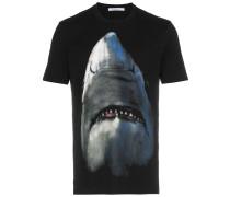 shark print cotton short sleeve t shirt