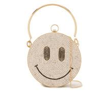 'Smile' Clutch mit Kristallen