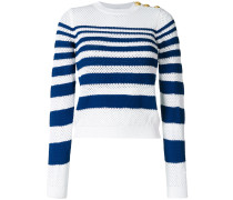 open knit striped jumper
