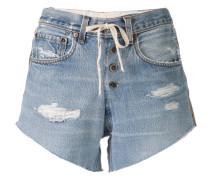 Jeans-Shorts mit Streifen