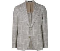 checked single breasted blazer