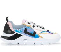 D.A.T.E. multi-panel platform sneakers