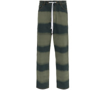 Weite Jeans mit breiten Streifen