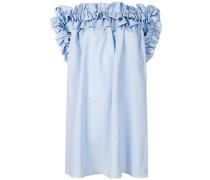 ruffled off-the-shoulders dress