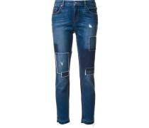 'Mila' Jeans im Patchwork-Stil