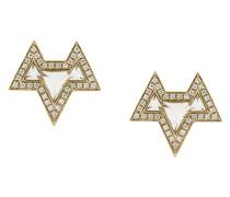 18kt 'Ana' Weißgoldohrringe mit Diamanten