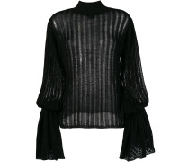 pleated knit jumper