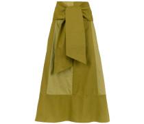 panelled flared skirt