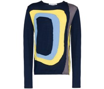 Panel knit wool sweatshirt