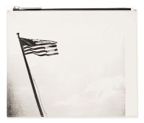 Clutch mit US-Flaggen-Print