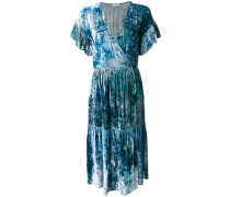 marble effect wrap dress