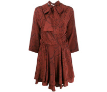 'Avior' Kleid mit Schleifenkragen