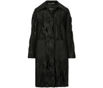 Weiter Mantel mit Brokat-Design