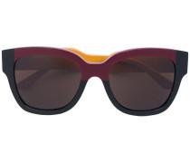 Cat-Eye-Sonnenbrille in Colour-Block-Optik