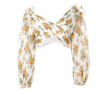 Golden Surfer floral-print blouse