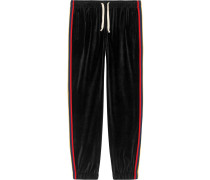 'Chenille' Jogginghose mit Patch