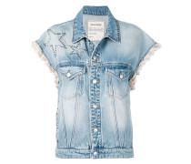Jeansjacke mit kurzen Ärmeln