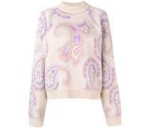 Intarsien-Pullover mit Paisleymuster