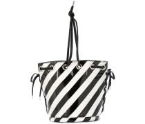 G.V.G.V. striped bucket-style shoulder bag